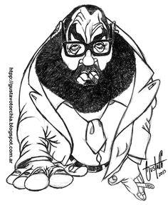 Boceto que realicé en lápiz grafito del periodista argentino Jorge Lanata