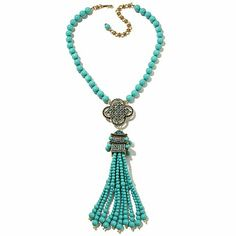 "Heidi Daus ""Imperial Pagoda"" Tassel Drop Necklace"
