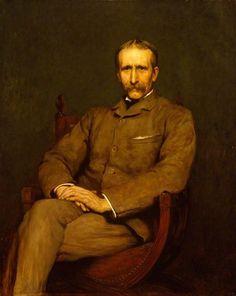Briton Riviere - Portrait of the Artist Briton Riviere by Sir Hubert von Herkomer.