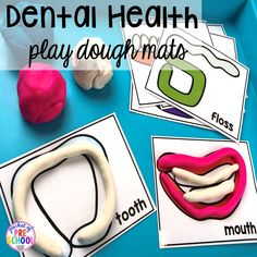 Dental Health Themed Activities and Centers Dental Health play dough mats! Dental health themed activities and centers for preschool, pre-k, and kindergarten (FREEBIES too) Health Lesson Plans, Health Lessons, Dental Health Month, Oral Health, Dental Kids, Dental Care, Dental Hygiene, Health Activities, Creative Activities