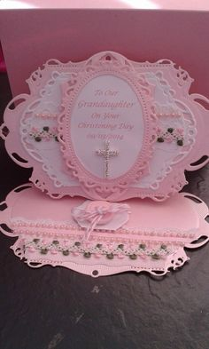 christening card, made with spellbinder dies.