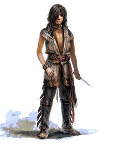 Young Connor concept art for Assassin's Creed 3
