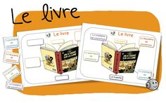 Le livre et son vocabulaire spécifique: couvertures, tranche, résumé..etc - Bout de gomme Core French, French Class, French Lessons, Teaching French, Language Activities, Reading Activities, Vocabulary Instruction, Cv Cover Letter, Libros