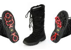 """Plaza51 wünscht Ihnen einen guten Rutsch ins neue Jahr. Aber nehmen Sie diese Redewendung nicht zu wortwörtlich. Außer Sie besitzen unsere """"Arosa"""", den tollen Boot von Conway. Mit seinen ausklappbaren Eiskrallen haben Sie immer den Halt den Sie brauchen und Ihre Füße bleiben auch im Freien mollig warm. ConWay, Damen Stiefel (Boots) – Arosa – schwarz; Jetzt in 360° Ansicht, nur auf PLAZA51!"""