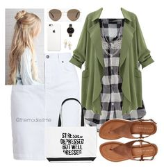 Army Green & Gingham by themodestme on Polyvore featuring polyvore, fashion, style, American Eagle Outfitters, Barbour, Aéropostale, Olivia Burton, BillyTheTree, Madewell and clothing