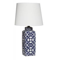 Geometric Navy Lamp