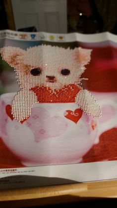 Diamond art Diamond Art, Tea Cups, Snoopy, Artwork, Fictional Characters, Work Of Art, Teacup, Tea Cup, Cup Of Tea
