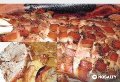 Kemencés malacsült One Pot, Hawaiian Pizza, French Toast, Pork, Menu, Cooking Recipes, Breakfast, Kale Stir Fry, Menu Board Design
