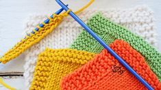 Consejos para mejorar los bordes del tejido dos agujas palillos tricot calceta Baby Cardigan Knitting Pattern, Knitting Patterns, Last Stitch, How To Purl Knit, Knitted Hats, Knit Crochet, Free Pattern, Blanket, Lana