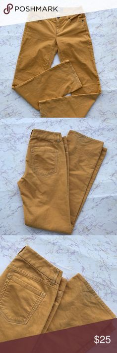 J Crew Factory Vintage Bootcut Cords Mustard yellow goldenrod size 2R boot cut corduroys. 99% cotton 1% spandex. Waist 29. Inseam 32. J. Crew Factory Pants Boot Cut & Flare