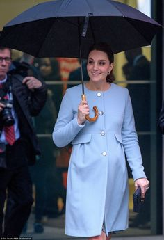 The Duchess was in sunny spirits despite the grey weather as she visited the The Maurice Wohl Clinical Neuroscience Institute at the Institute of Psychiatry, Psychology and Neuroscience at Kings College London