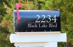 Modern Mailbox Decal Address Decal | Mailbox Decoration | Personalized Decal | Mailbox Sticker | Address Sticker |  Gift