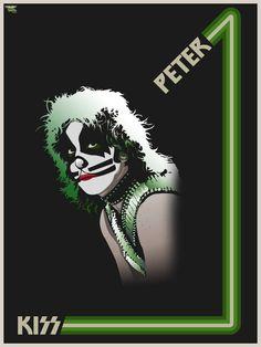 Kiss-Peter by heathdro on DeviantArt Paul Stanley, Kizz Band, Metallica Art, Kiss Concert, Kiss Members, Peter Criss, Kiss Art, Kiss Pictures, Band Wallpapers