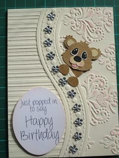 Bears Birthday Cards for Everyone - Cranberry Energy Balls - Bears Birthday . - Bears Birthday Cards for Everyone – Cranberry Energy Balls – Bears Birthday … – Bears Birth - Birthday Cards For Women, Happy Birthday Cards, Making Greeting Cards, Greeting Cards Handmade, Kids Cards, Baby Cards, Embossed Cards, Cricut Cards, Card Tags