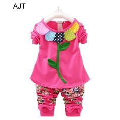 Find More Clothing Sets Information about AJT Round neck long sleeve sunflower appliques cartoon sweatershirt+printting flower long pant girl clothing set,High Quality girl superheroes,China clothing candy Suppliers, Cheap girl from AJT Hi-technology electronics   store on Aliexpress.com
