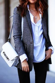 Style hint: Look, you don't necessarily need to be a career woman, a lawyer or a manager to include blazers in your wardrobe. You just need to start looking at it as an ordinary clothing item and mix it with more relaxed clothes to get a new and improved twist for your daily style. Get more tips on http://femalejungle.com