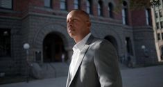 Bryan Stevenson, who founded and runs the Equal Justice Initiative, outside the former courthouse where the 1910 lynching of Allen Brooks, a black man, began in Dallas. Photograph: Brandon Thibodeaux/New York Times