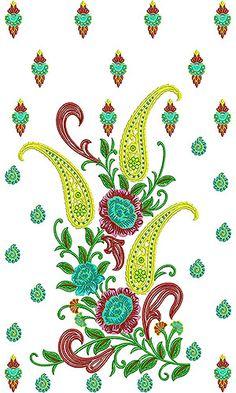 Walima Bridal Dress Embroidery Design