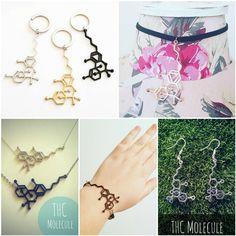 Items similar to THC Molecule Jewellery Necklace Earrings Keychain Bracelet Anklet Collar Pins Badge Car Charm Keyring Bookmark Choker Marijuana Weed Pot on Etsy Molecule Tattoo, Molecule Necklace, Pins Badge, Jewelry Necklaces, Bracelets, Life Tattoos, Anklet, Small Tattoos, Chokers