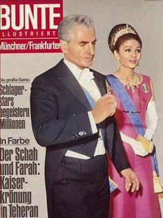 BUNTE Magazine Cover, H.I.M. Mohammad Reza Shah Pahlavi, Shahanshah Aryamehr, and H.I.M. Shahbaniu Farah Diba Pahlavi, The Shah and Queen of Iran, 1967