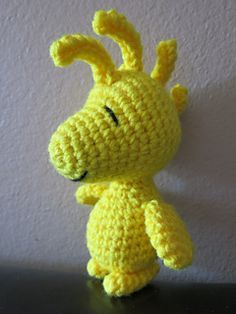 Who wouldn't want a tiny little Woodstock? Free pattern via ravelry
