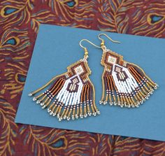 autumn is coming beaded earrings Native American by BEhAnDson