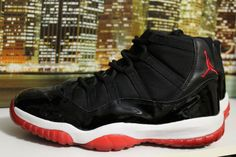 quality design 6446b 2e334 (eBay Sponsored) Vintage Air Jordan Retro 11 Bred Black Red 2001 Basket  Ball Sneakers