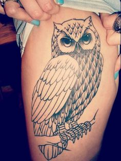 Owl Tattoo Designs For Girls