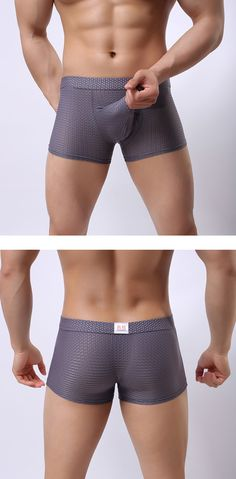 ac058d631d980d Mens Sexy Mesh Breathable Elephant Shaped U Convex Pouch Boxers Casual  Underwear