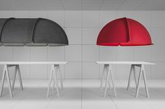 Hood. Large, modular, compressed-felt lamp shades by Stockholm studio Form Us With Love for Ateljé Lyktan.