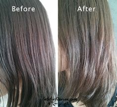 DIY: 3 Homemade Recipes to Lighten Hair - Before and After Progress on lutetiaflaviae.com