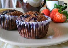 Egészséges áfonyás muffin Healthy Menu, Healthy Life, Diabetic Recipes, Diet Recipes, Recipies, Simply Recipes, Health Eating, Cupcake Recipes, Holiday Recipes