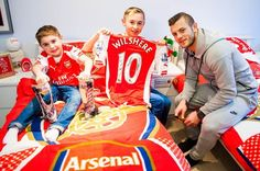 Jack Wilshere with Archie and his brother Leyton. Arsenal star Jack Wilshere made a child's dreams come true when he waited for him to come home from school and surprised him on his doorstep. Nine-year-old Archie Hill, who suffers from life-limiting muscle wasting disease Duchenne muscular dystrophy, was spotted by the Gunners star during a television interview the Hill family did last month.