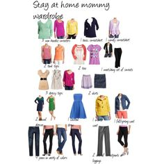 Stay at home mom wardrobe.  This is the list I've been looking for!!
