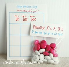 Last-Minute Valentine Treat Ideas tic tac toe- Would be great in an altoids mint tin w/game board attached to either the bottom or lid inside.tic tac toe- Would be great in an altoids mint tin w/game board attached to either the bottom or lid inside. Valentines Games, Valentines Day Party, Valentine Day Crafts, Printable Valentine, Valentine Ideas, Valentine Puns, Valentine Activities, Valentine Nails, Homemade Valentines