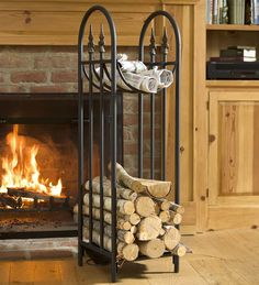 Hearthside Finial Log Rack | Wood Storage