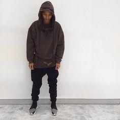 Kanye West Fashion Mens Drop Shoulder Big Hood Hoodies Brand Yeezy High Quality Oversized Hoodie Cloak Outwear Designer Clothes