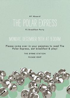 Polar Express Party Invitation