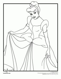 Cinderella Coloring Pages (6) Plus Tinkerbell Coloring Pages, Snow White Coloring Pages
