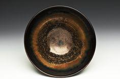 porcelain tea bowl Nebulae tenmoku Sebastian Moh