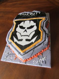 Black ops 2  call of duty birthday cake.