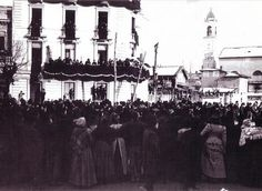 27 Febbraio 1901 Funerali di GIuseppe Verdi, Vista da via San Siro con via Buonarroti, verso piazza Wagner | da Milàn l'era inscì