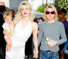 Kurt,Courtney and baby Francis
