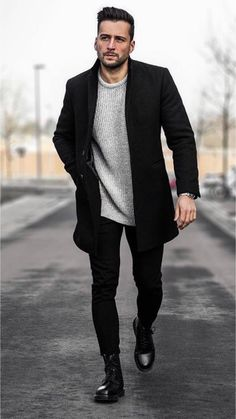 best of mens fashion classy gentleman style mens fashion sweaters, mens b Mens Fashion Sweaters, Mens Boots Fashion, Latest Mens Fashion, Mens Fashion Suits, Classy Mens Fashion, Best Street Style, Street Style Outfits, Mode Outfits, Men Street Styles