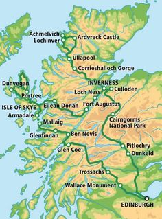 I REALLY, REALLY LIKE THIS TOUR! 5 Day Tour - The Grand Tour of Scotland map