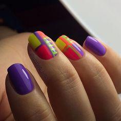 Маникюр. ногтей Дизайн. Nail Art semplice   VK