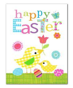 Look what I found on #zulily! 'Happy Easter' Chicks Print by Ellen Crimi-Trent #zulilyfinds