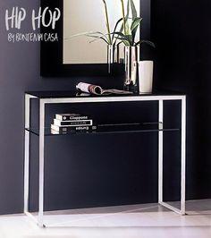Console HIP HOP, Acier et Verre 100x35x80 cm, Design by BONTEMPI CASA