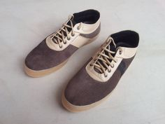 handmade brown shoes corduroy and cream by MarapulaiClothing