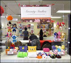 Anime Detour Art Table 2013 by Serenity-Sama.deviantart.com on @deviantART  I love these little baskets.